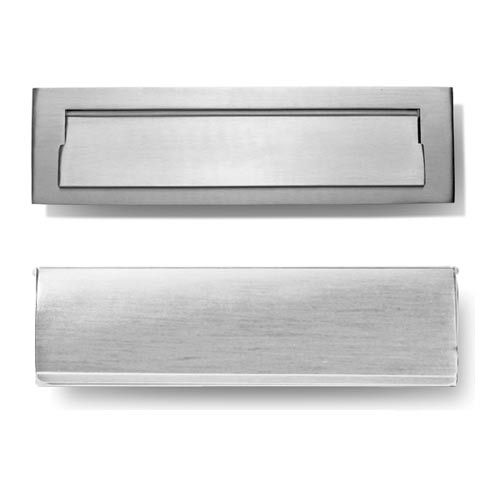 Hamilton Decorative Contemporary Brushed Nickle 10 X 3 Mail Slot