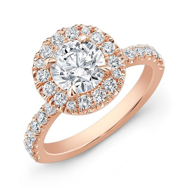 Modern Style Diamond Halo Engagement Ring. #1800loosediamonds #ring #diamond #halostyle #bridal #wedding #engagement