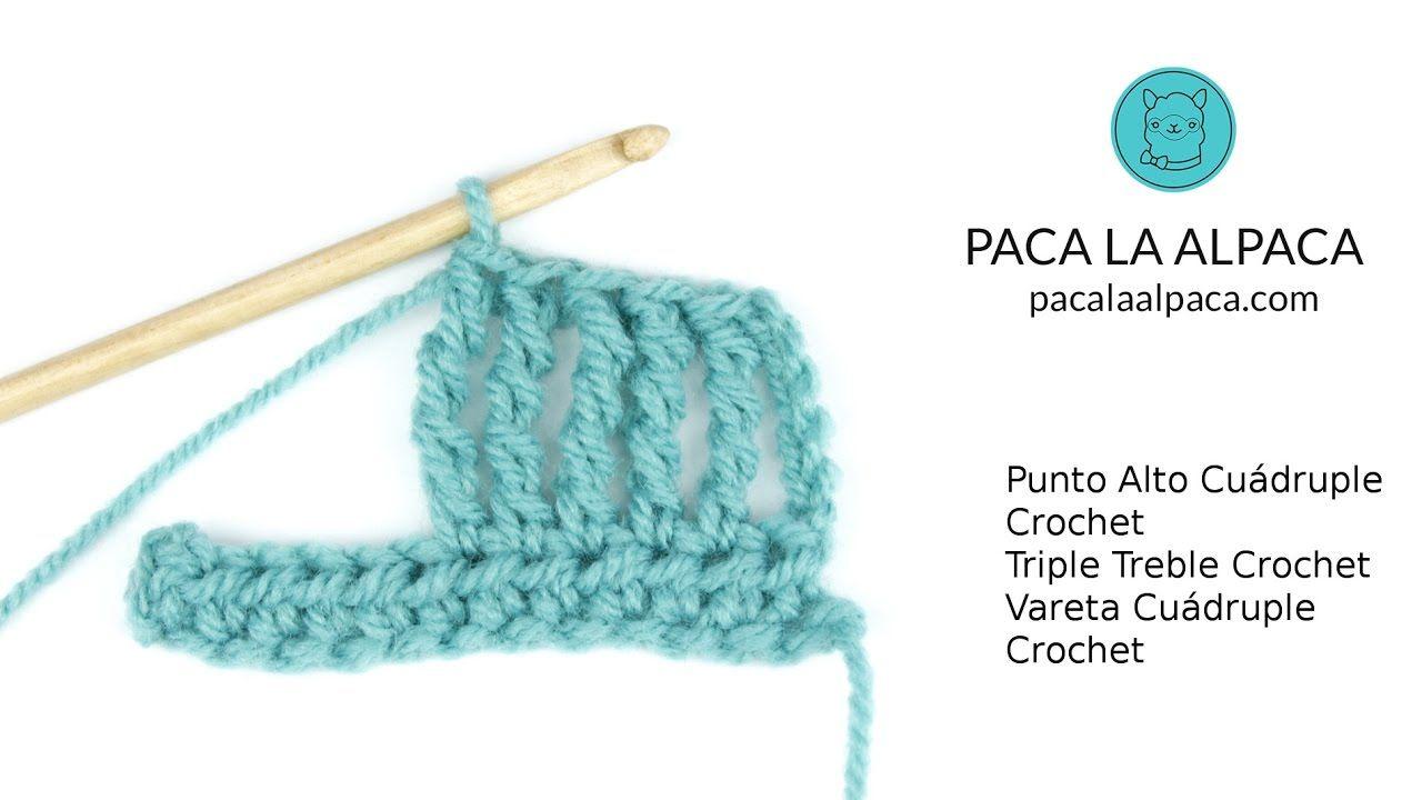 Punto Alto Cuádruple / Triple Treble Crochet / Vareta Cuádruple ...