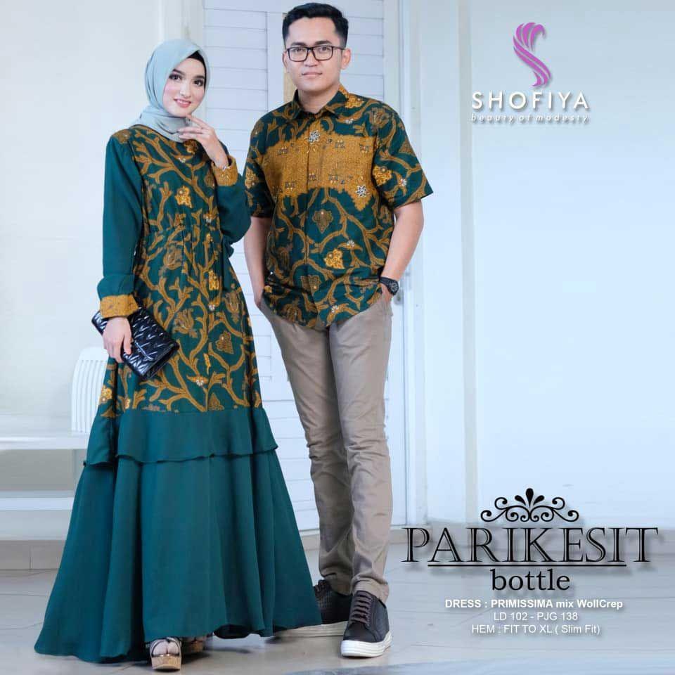Model Baju Batik Couple Gamis Seri Parikesit di 9  Model baju