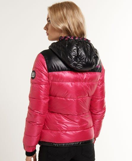 Shop Superdry Womens Intrepid Jacket in Black/pop Pink. Buy now with free  delivery from the Official Superdry Store.