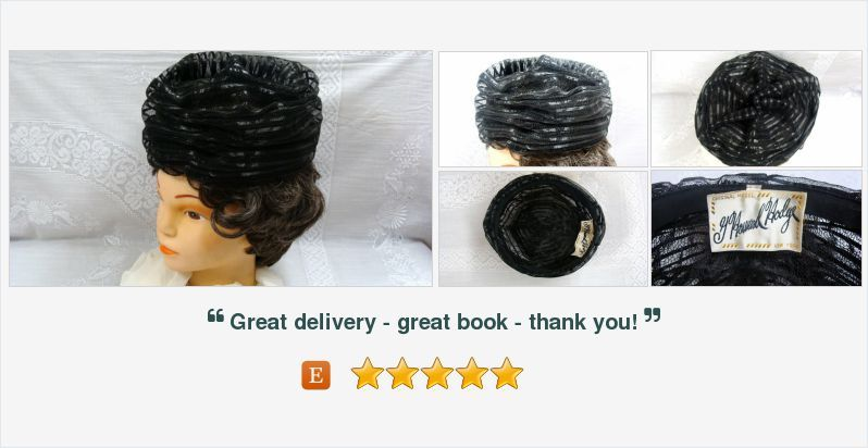 Items similar to G. Howard Hodge Black Plastic Mesh Ladies Hat Original Model New York on Etsy