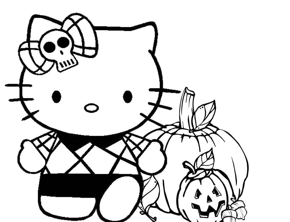 Hello Kitty Halloween Coloring Pages Hello Kitty Happy Halloween