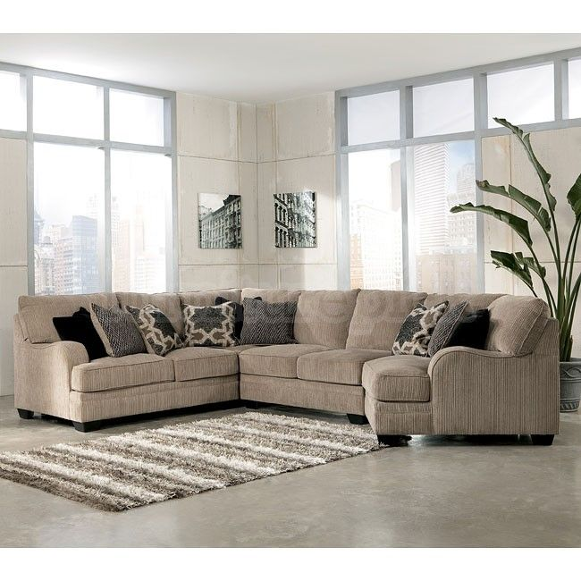 Katisha Platinum Sectional W Cuddler Sectionals At