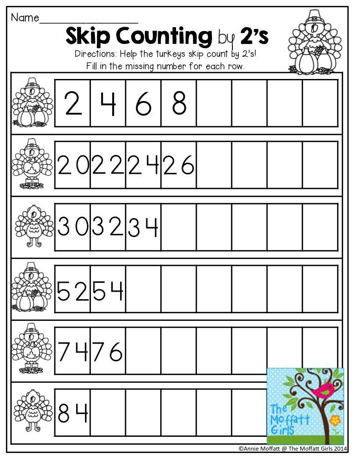Skip Counting by 2\'s- Look at the beginning numbers. Continue skip ...