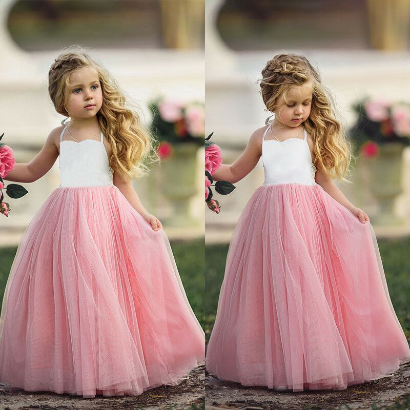 1-6 Y Toddler Kids Baby Girl Princess Party Pageant Gown Tutu Skirt Formal Dress
