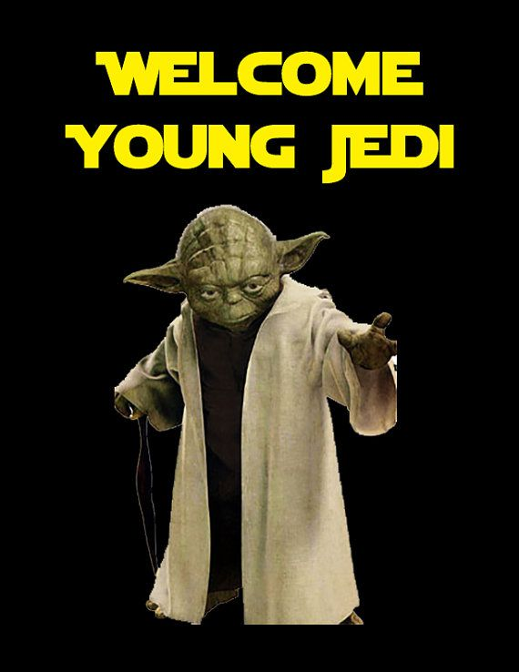 Star Wars Welcome Young Jedi Sign by DylansPartyDesigns on Etsy ...