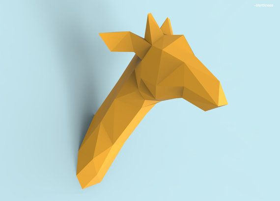 Hey I Found This Really Awesome Etsy Listing At 398286619 Giraffe Head Papercraft Pdf Pack