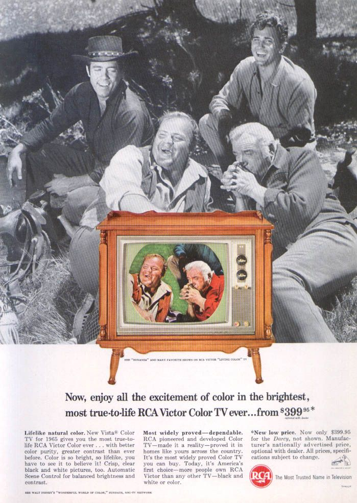 Bonanza RCA Victor Color TV ad 1964 | Miller Zell 50th