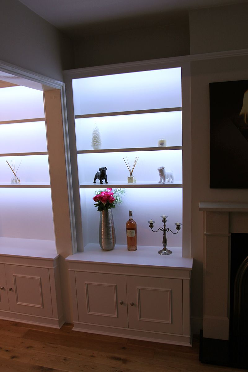 Bookcases with lighting (chiswick) | Living Room Wall | Pinterest ...