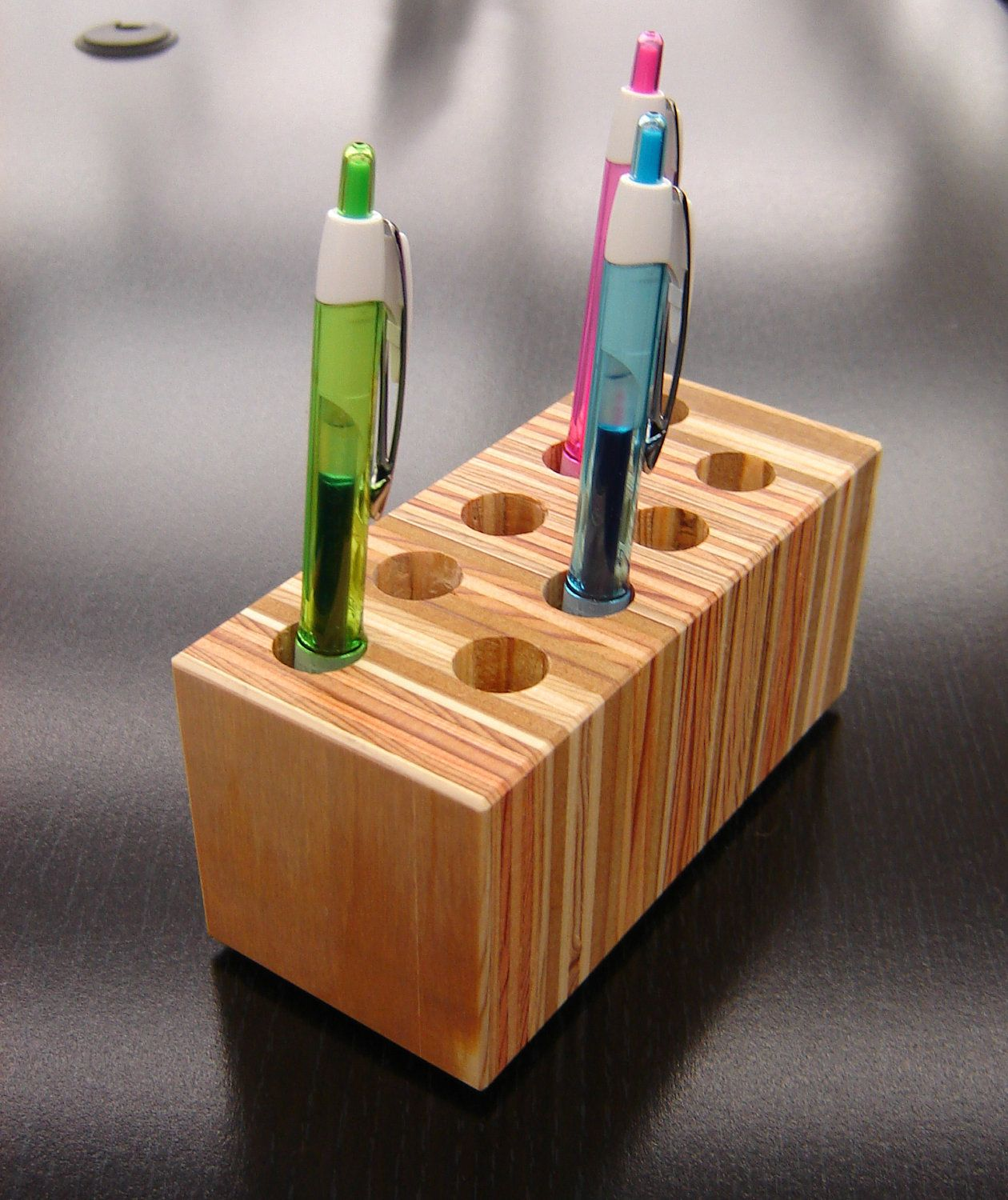 Pen And Pencil Holder For Desk Pencil Holder Desktop Organizer From Repurposed Wood 25