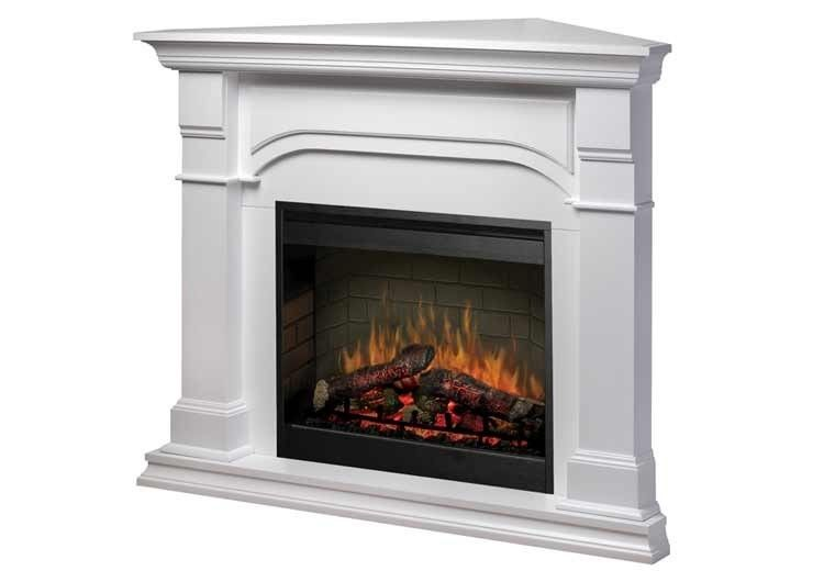 Oxford Corner Electric Fireplace By, Small Corner Faux Fireplace