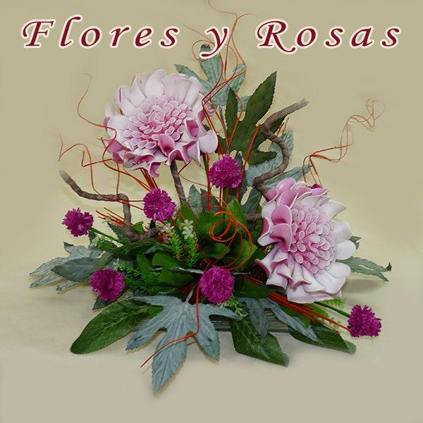 Regalar Flores de foam y centros de flores secas con mucho estilo