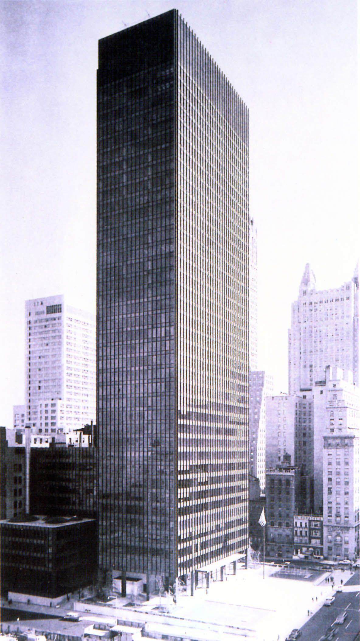 Seagram Building New York City Mies Van Der Rohe Philip Johnson