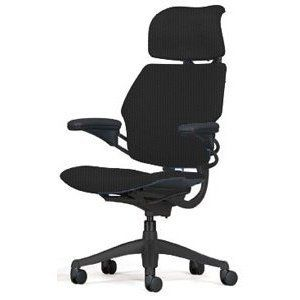 Freedom-Chair-by-Humanscale-Headrest-Standard-Duron-Arms-Graphite-Frame-Foam-seat-Black-Wave-0