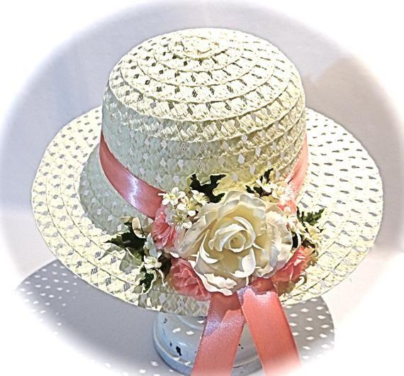 Girl s Easter Bonnet Tea Party Hat Flower Girl Hats GH-121 ... 2e4d25e8436e