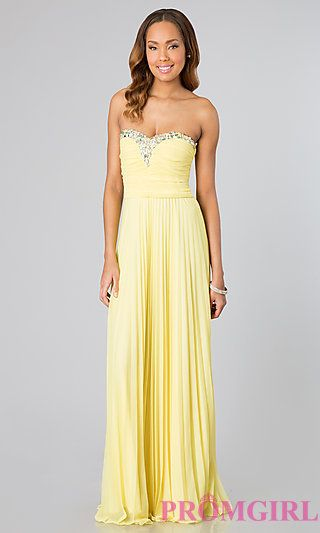 Yellow Strapless Gown for Prom by As U Wish at PromGirl.com $69 | I ...