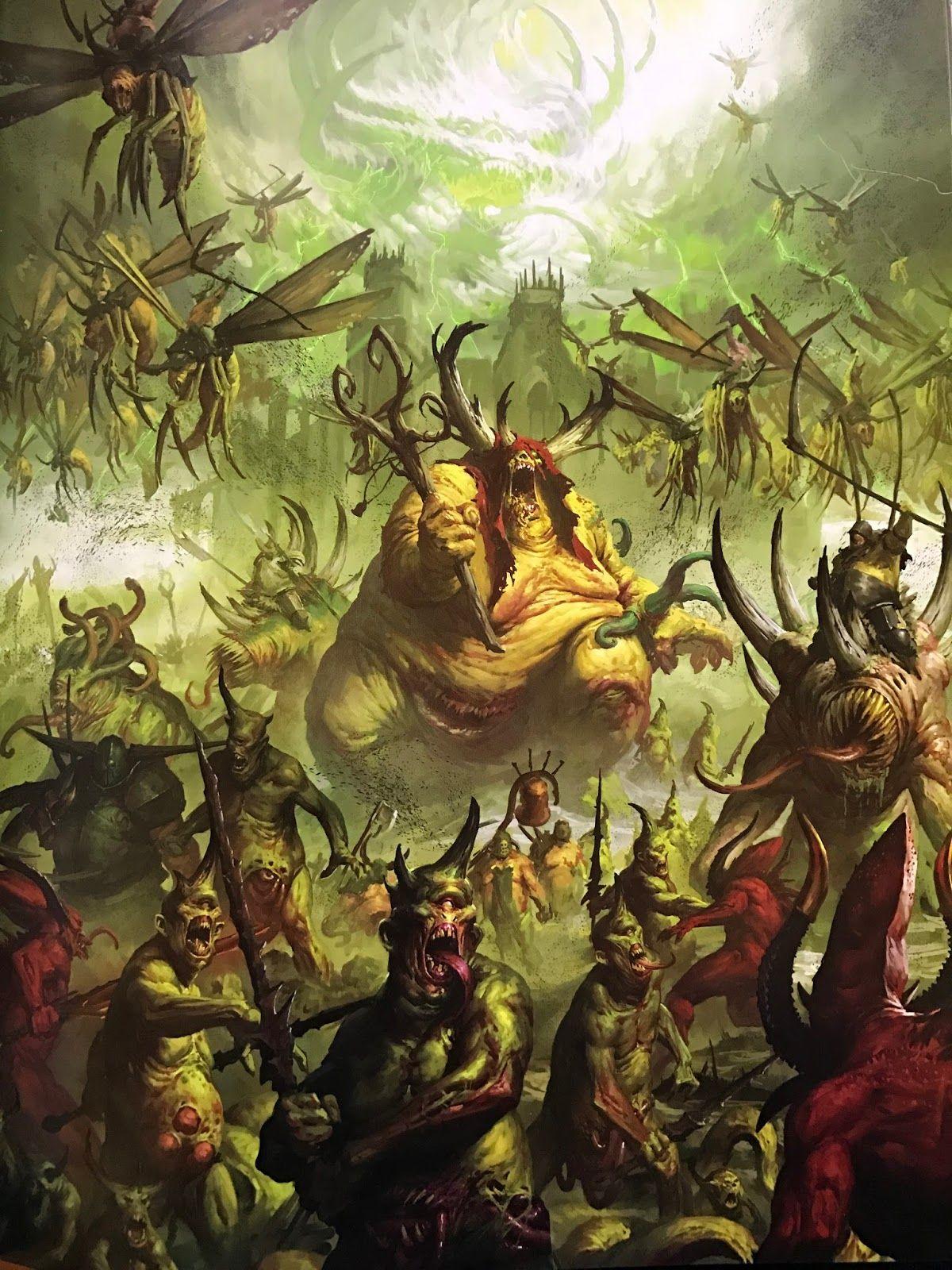 Age of Warhammer: Chaos Battletome: Maggotkin of Nurgle Review | Warhammer  fantasy, Warhammer 40k artwork, Warhammer art
