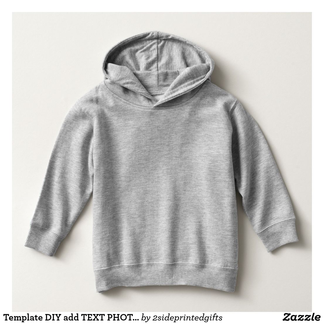 Template DIY add TEXT PHOT Toddler Pullover Hoodie | Template