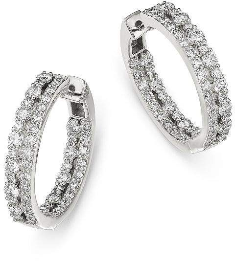 c5434e51fb77be Bloomingdale's Diamond Inside Out Hoop Earrings in 14K White Gold, 2.0 ct.  t.w. - 100% Exclusive