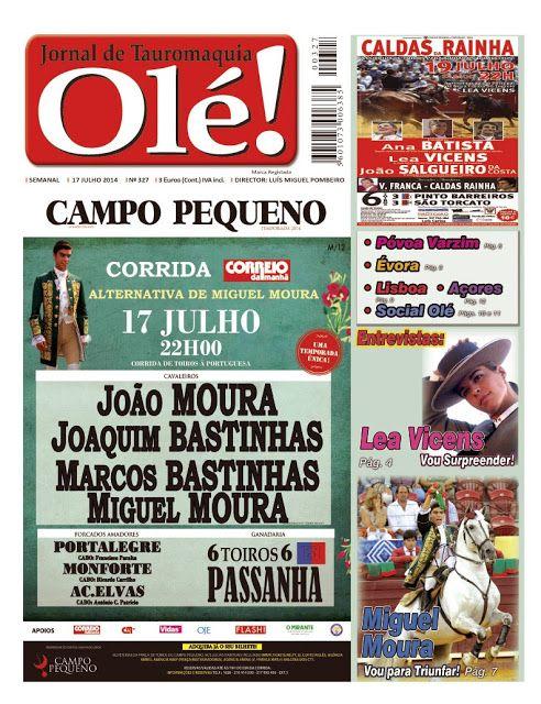 Pátio de Quadrilhas: Capa da Edição Nº 327 do Jornal Taurino Olé!