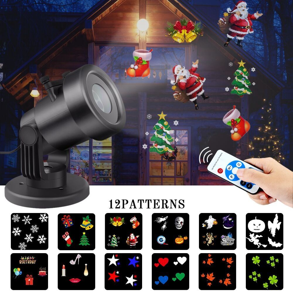 Led christmas light projector outdoor waterproof snowflake projector led christmas light projector outdoor waterproof snowflake projector lights with remote control landscape lighting show for aloadofball Choice Image