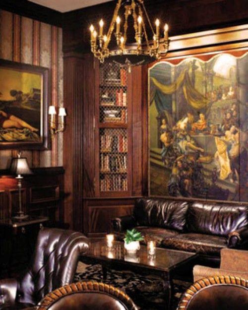 Wood Paneled Library: The Chanler At Cliff Walk (Newport, RI
