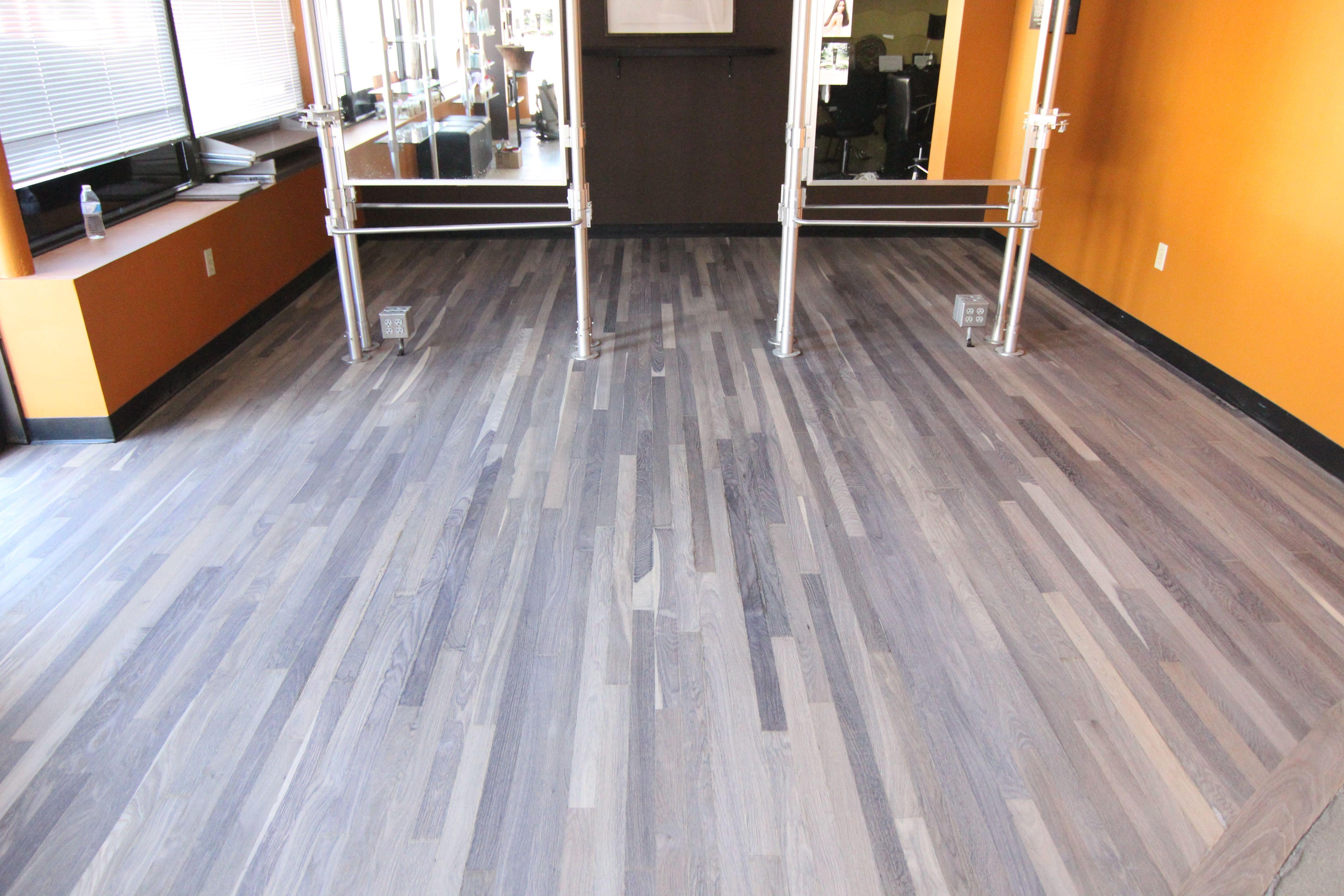 Hardwax oil, Pro application Reclaimed oak flooring