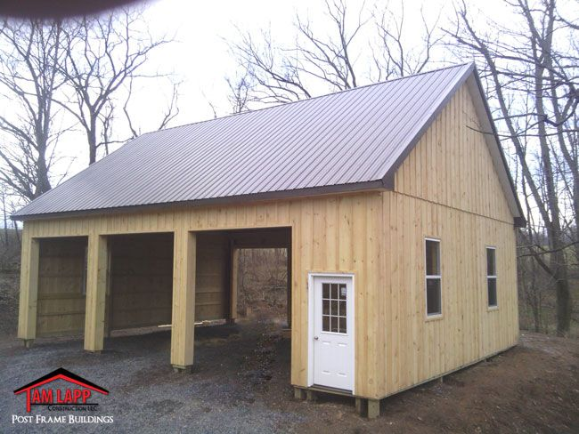 Residential Polebarn Building In Quakertown Pennsylvania Project Overview 9 12 Pitch Roof Painted 29 Ga 40 Year Me Building A Pole Barn Barn Design Pole Barn