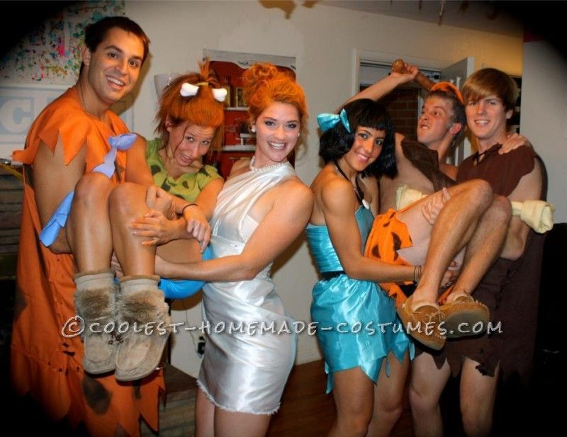 simple flintstones group costume - Flinstones Halloween