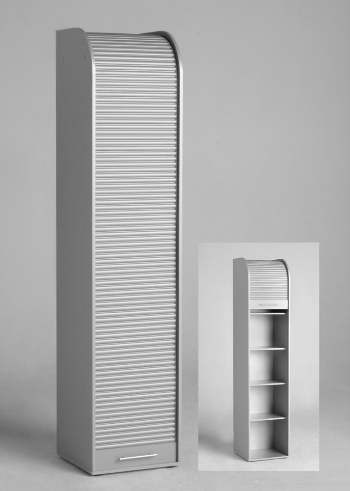 rollladenschrank akten rollo schrank silber 4306 buy now at. Black Bedroom Furniture Sets. Home Design Ideas