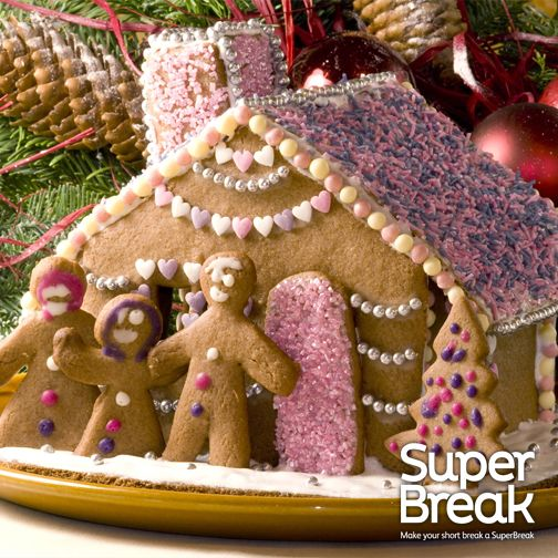 A gingerbread house is one of the things that would make our Christmas a Super one! #SuperBreakElf #Christmas #GingerbreadHouse
