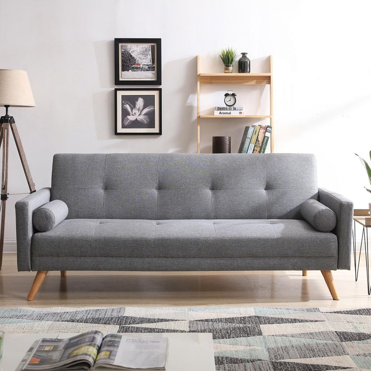 Canape Scandinave Convertible 3 Places Wooden Taille 3 Places
