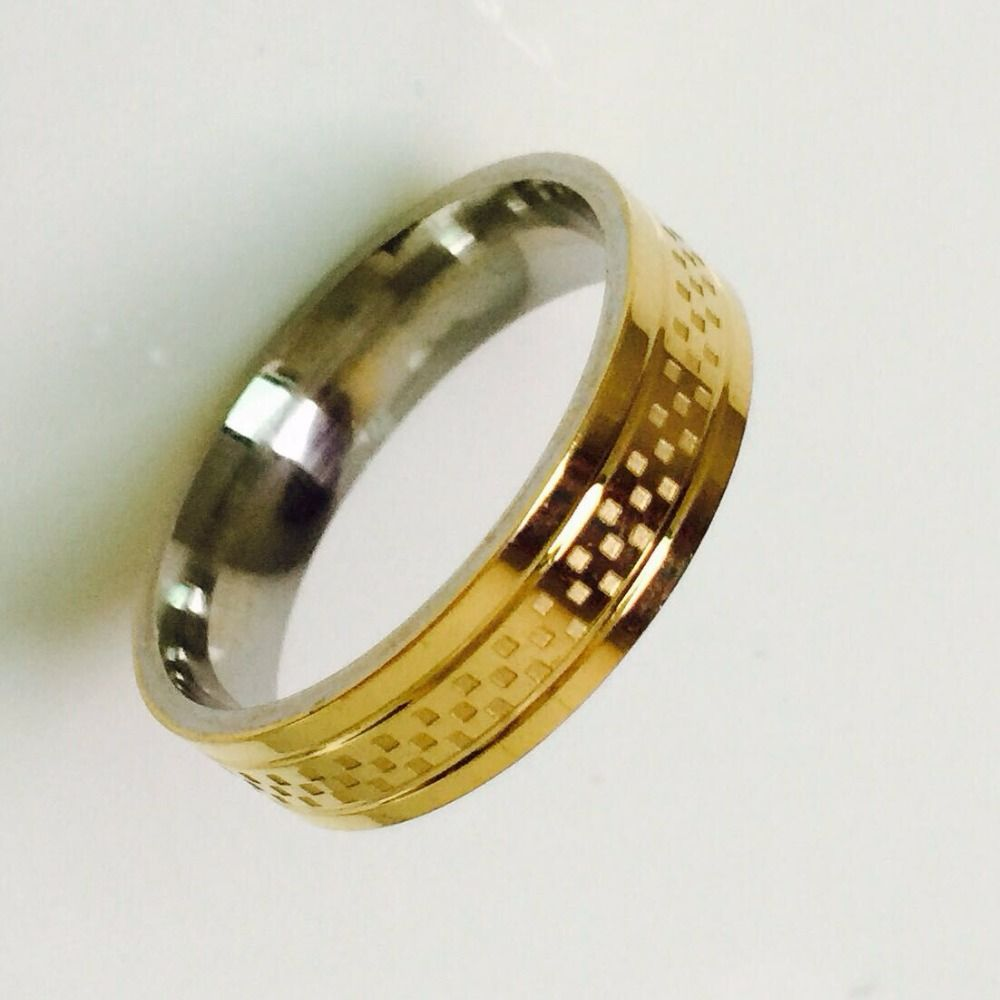 Cheap Women Fashion Rings, Buy Quality Women Rings Directly From China Ring  Gold Suppliers: Cool Simple Men Women Ring Gold Color Stainless Steel Male  ...