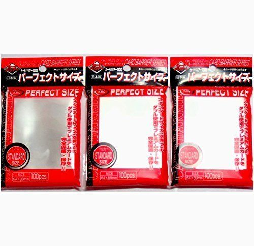 Collectible Trading Card Protective Sleeves - KMC 100 pochettes Card Barrier Perfect Size Soft Sleeves 3 PacksTotal 300 pochettes KomainuDou Original Package * To view further for this item, visit the image link.