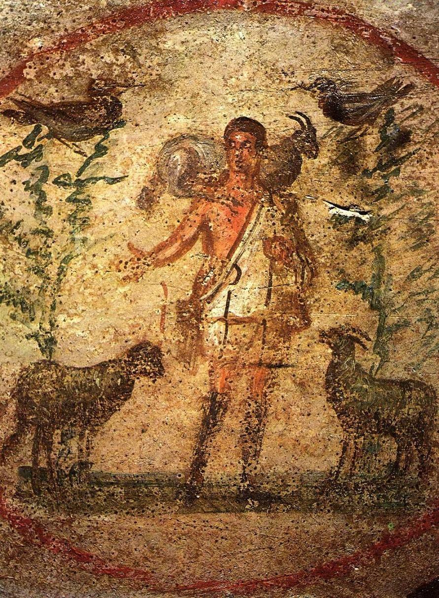 Resultado de imagen de Jesús el buen pastor, catacumtas