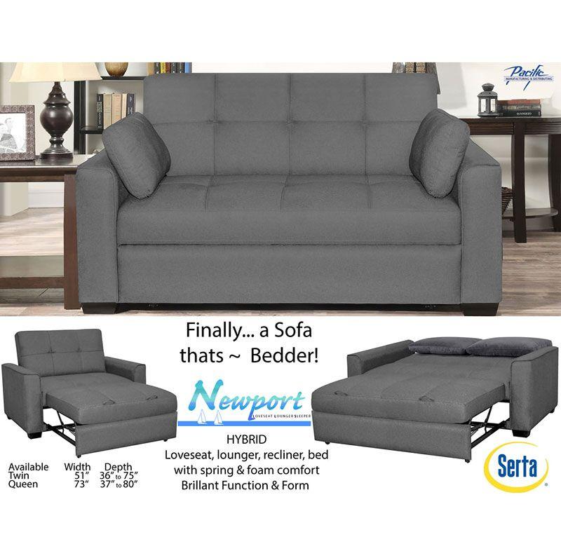 The Serta Newport Convertible Sofa Bed, Serta Sofa And Loveseat
