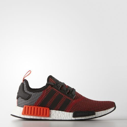 2931d596aea77 Adidas Mens Orininals NMD R1 Primeknit Shoes Lush Red S16-St Core Black Ftwr  White (S79158)