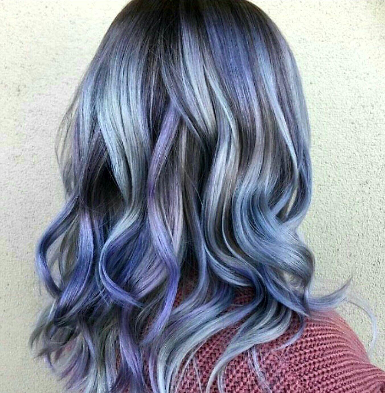 Marbled Dimensional Color By Patrickryan24 Red Violet Hair