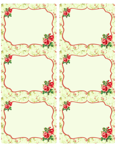 These Free Gorgeous Vintage Rose Labels In Editable Pdf Templates Are Designed By Rachel Birdsell Of Curiouscrow Printable Labels Labels Printables Free Labels