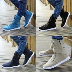 Top Casual Lace Zip Velcro Boot Shoe