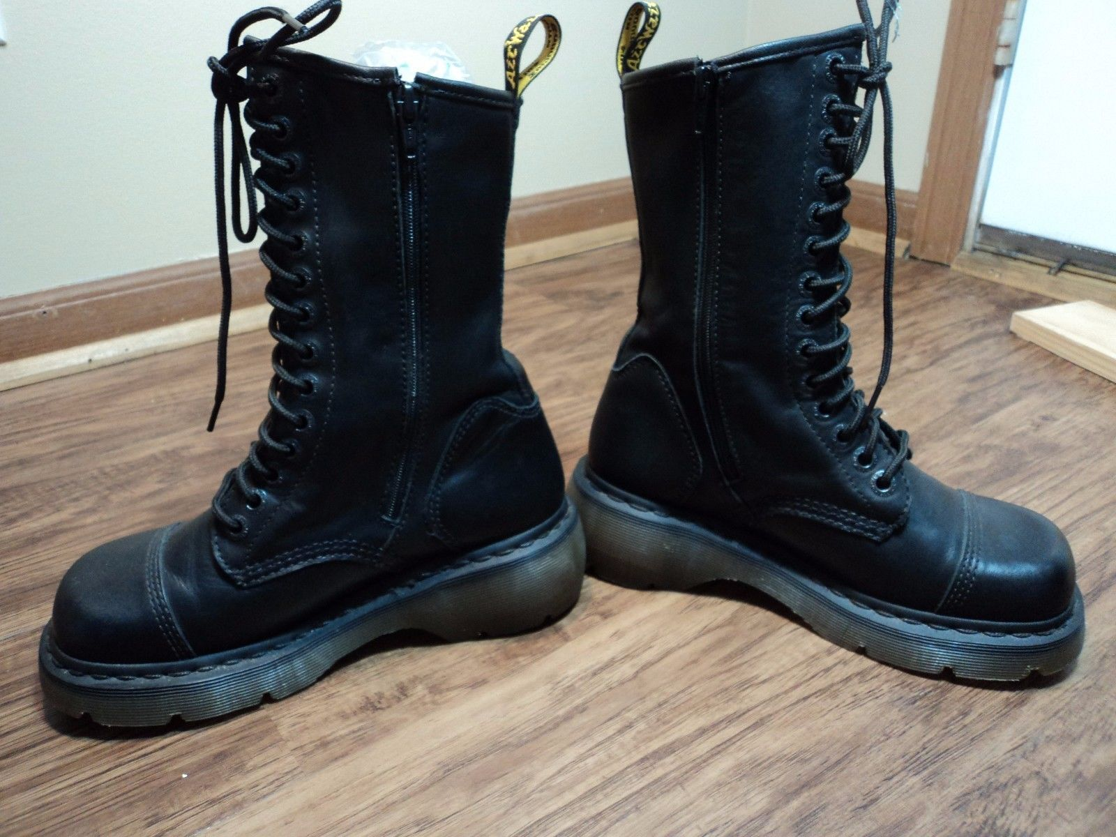 Dr. Marten Miranda Black Leather Combat Boots WAir Cushion