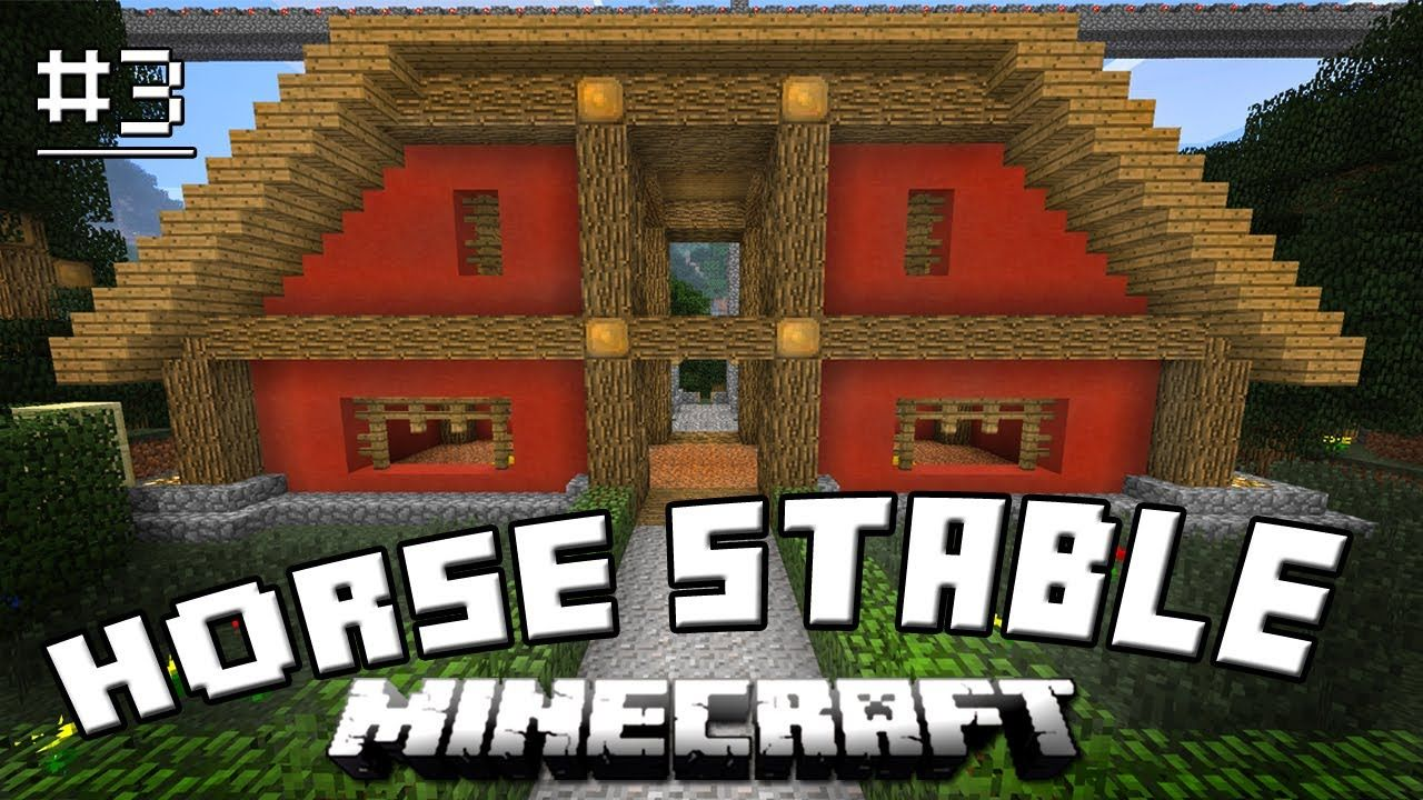 Minecraft Tutorial: How To Make A Cool Horse Stable (How To