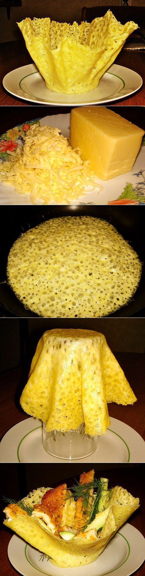 Приготовление сырных корзиночек   Готовим вместе   сытно есть   Постила