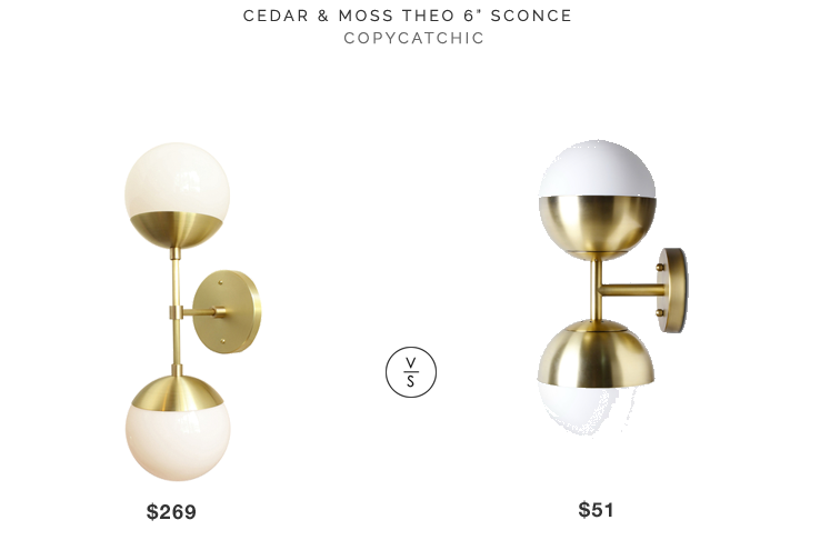 Linear Globe Bath Light: Brass Bathroom