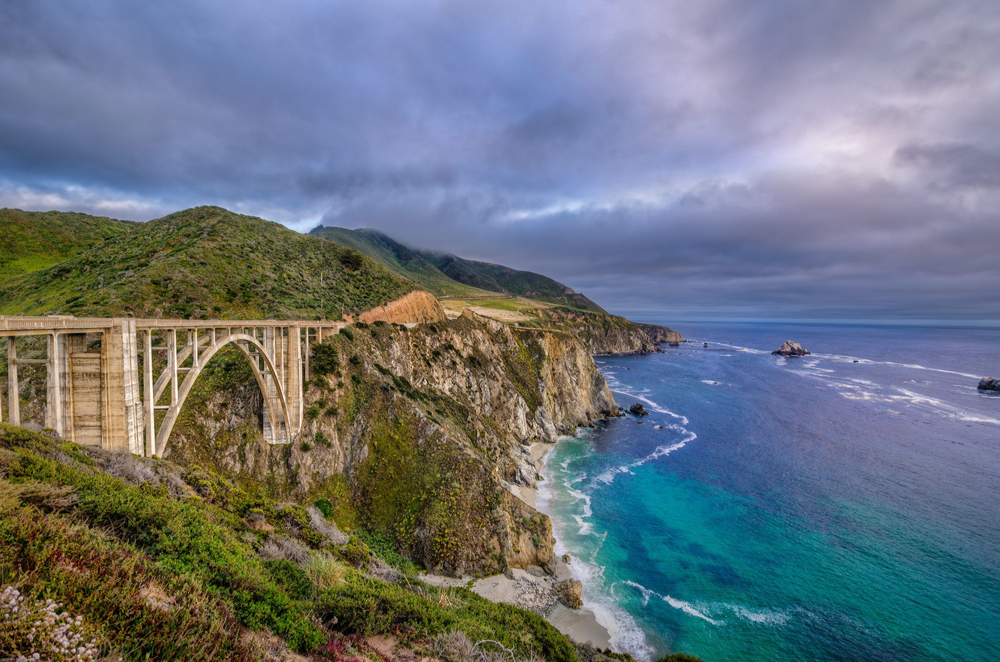 Bixby Creek Bridge Big Sur Coast Of California