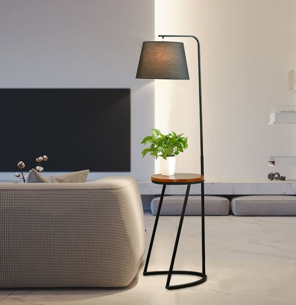 Home Mall Modern Iron Floor Lamp Tall Standing Lamp With Wood Tray For Living Room Bedroom Study R En 2020 Mueble De Pared Todo Muebles Muebles De Diseno Industrial