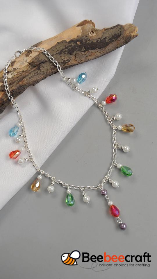 Tutorial #Beebeecraft sobre cómo hacer #necklace con coloridas # cuentas de vidrio.