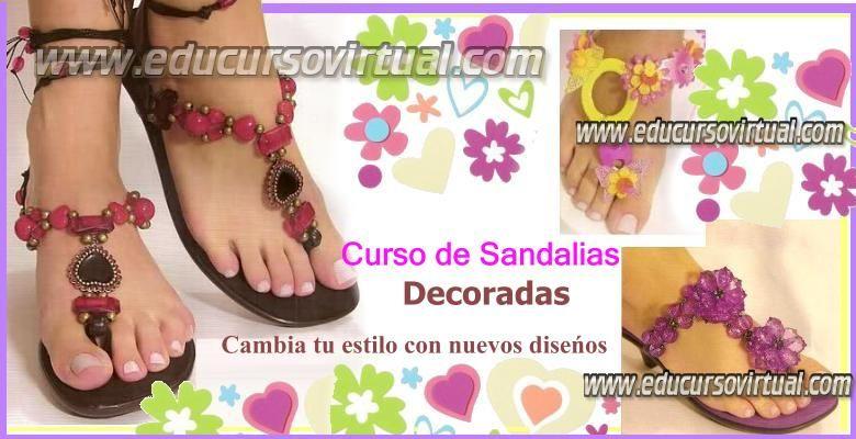 como hacer sandalias decoradas paso a paso