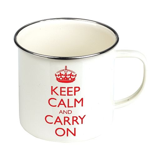 Keep Calm And Carry On Gardening Mug